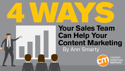 4 Ways Your Sales Team Can Help Your Content Marketing