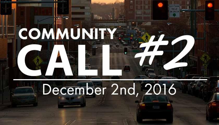 Community Call #02 - 12/2/2016