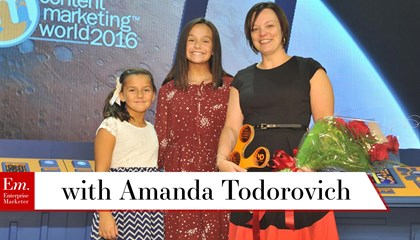 Amanda Todorovich on the Content Marketing World Health Summit in September 2017