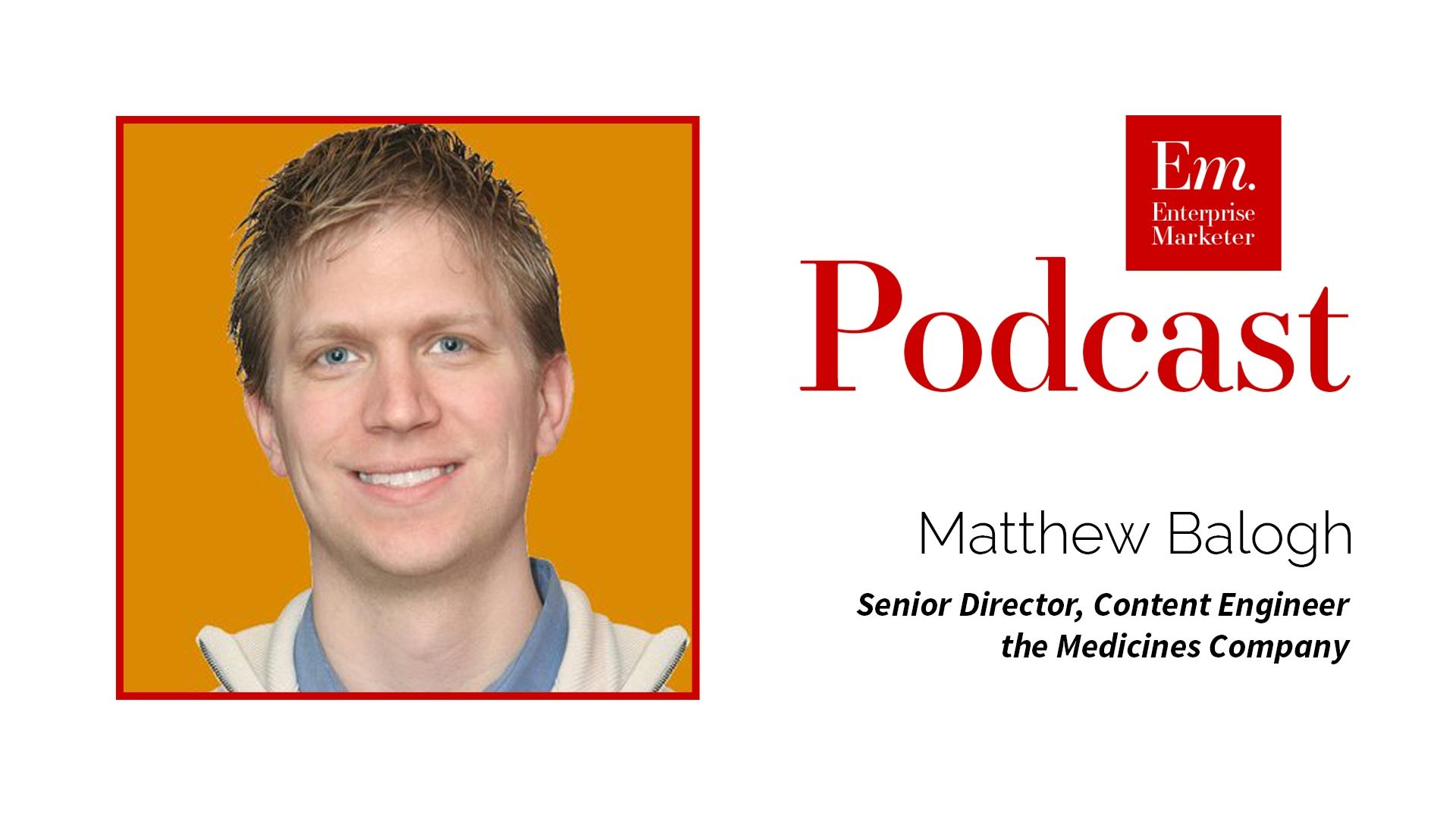 Matthew Balogh Talks About the Role of Content Engineer