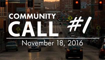 Community Call #01 - 11/18/2016